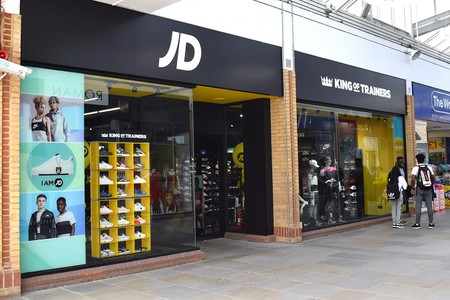 JD shop with trainers in the window