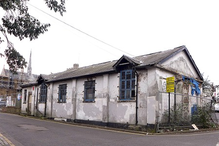 dilapidated single storey building