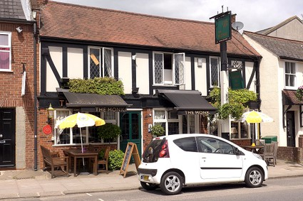 pub with small car outside